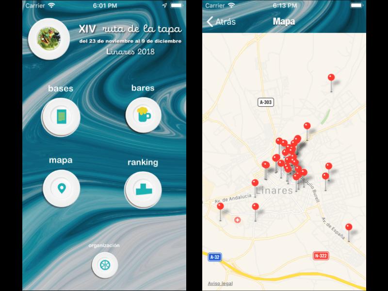 Ruta de la Tapa de Linares iOS