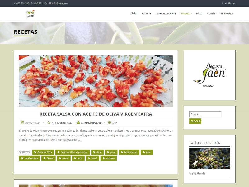 AOVE Jaén recetas