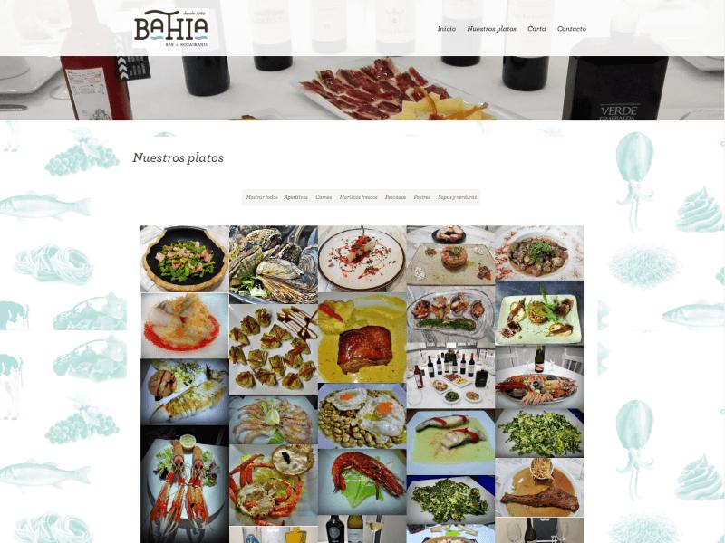 Restaurante Bahia Jaen platos
