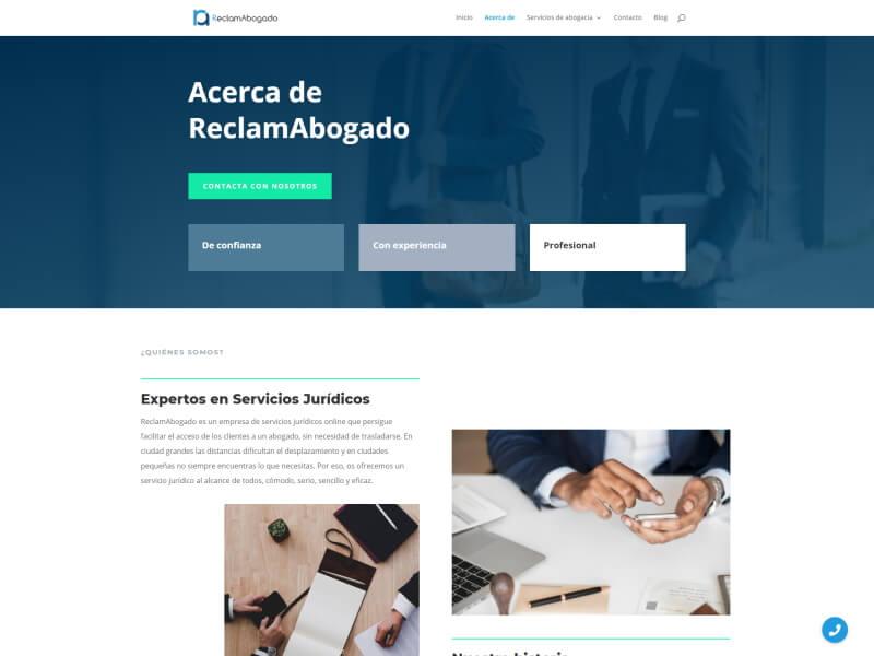 Web ReclamAbogado