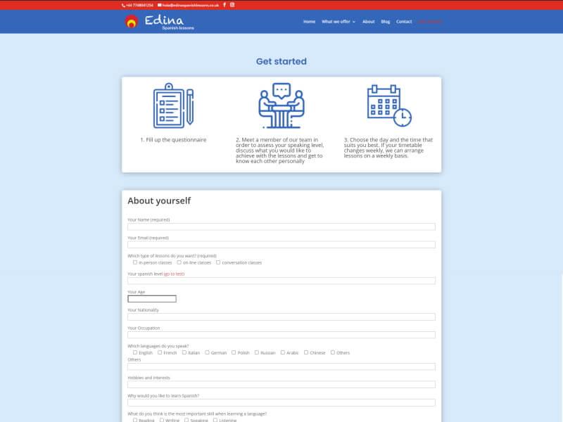 Web Edina Spanish Lessons