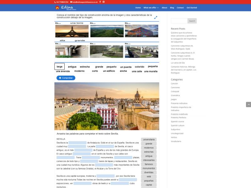 Web Edina Spanish Lessons