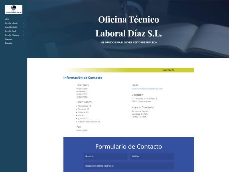 Web Oficina Técnico Laboral Díaz