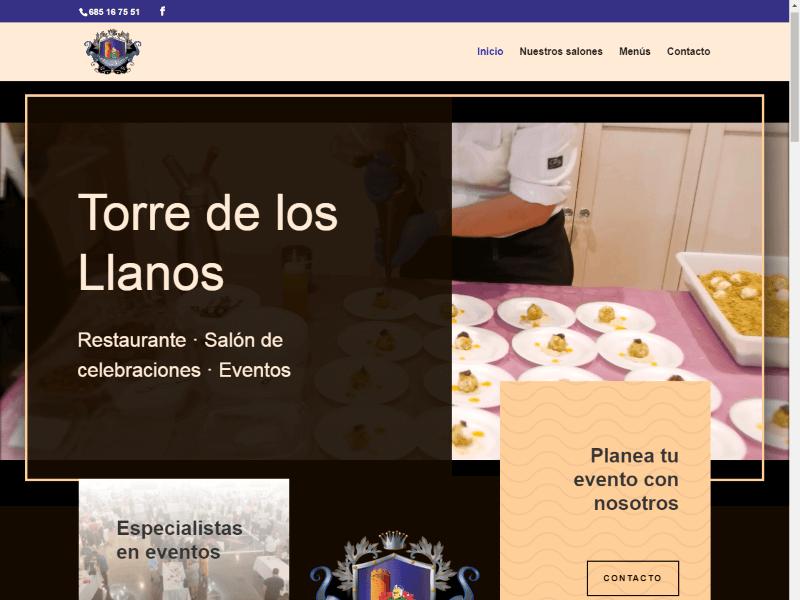 Web Salones Torres de los Llanos